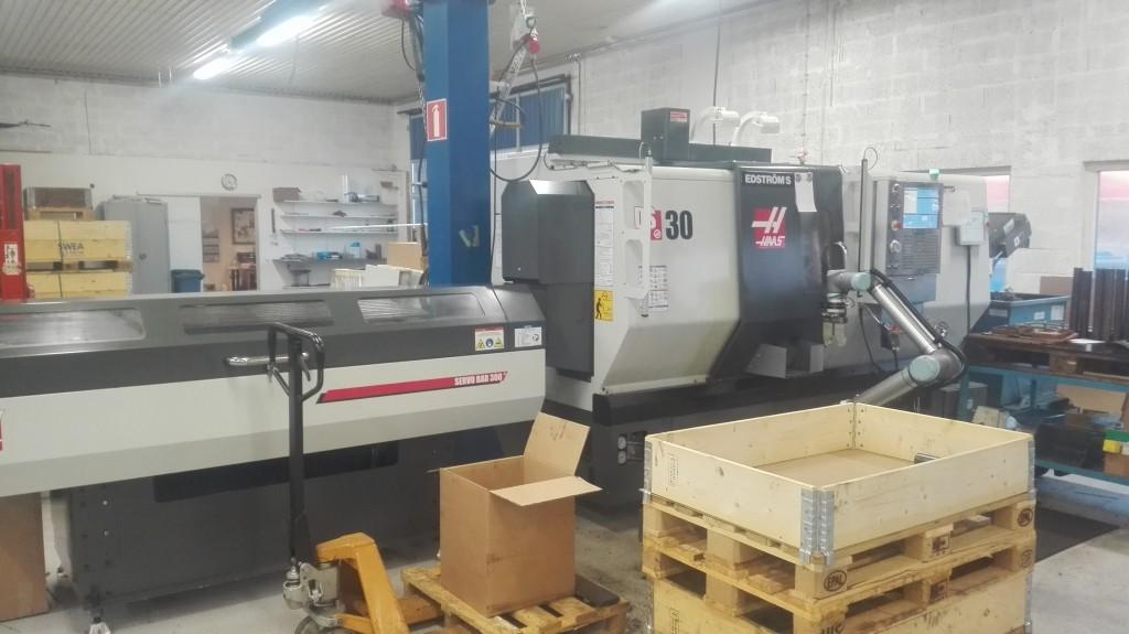 Ny Haas med subspindel/stångmagasin och robot